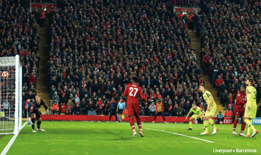 Liverpool vs Barcelona rzuty rożne