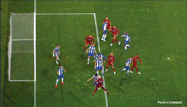 Porto vs Liverpool rzuty rożne